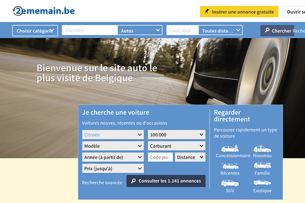 leboncoin belgique voiture : l'alternative 2ememain